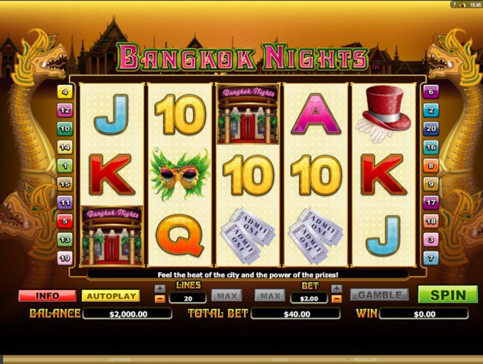 Bangkok Nights Slot Nyx Interactive Screenshot