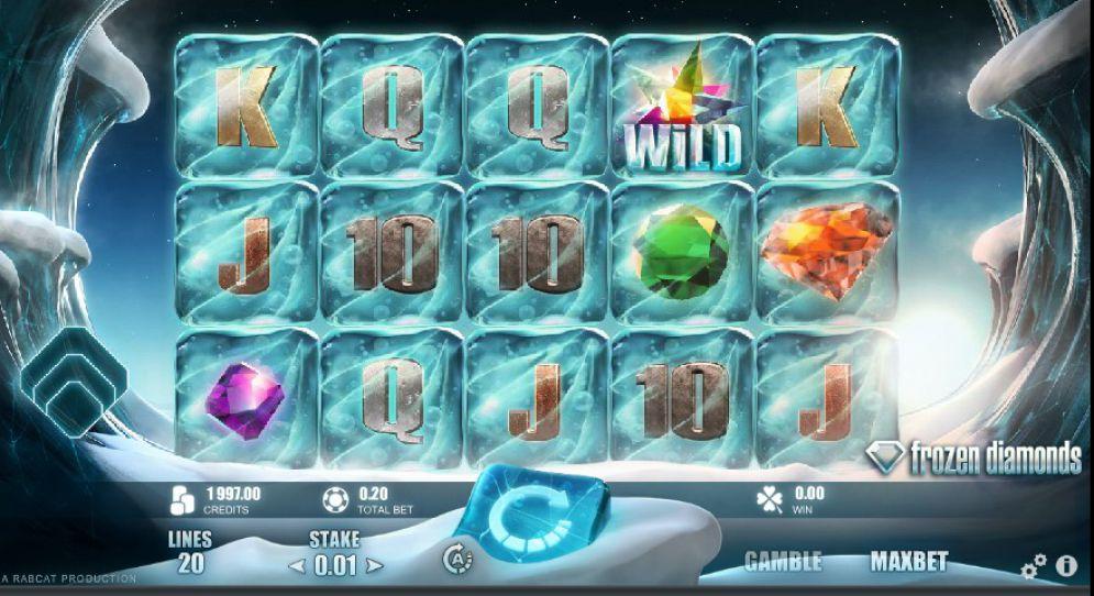 Frozen Diamonds Slot screenshot bonus free spins