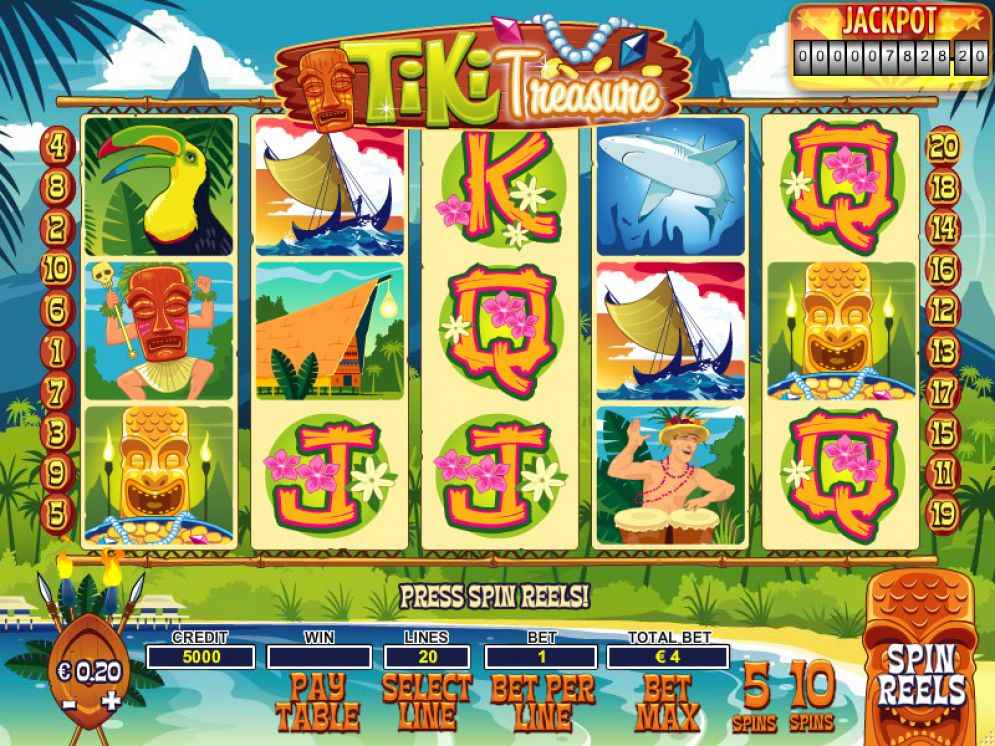Tiki Treasure Slot Review Nyx Interactive Screenshot