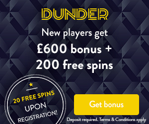 Dunder casino 20 free spins no deposit required